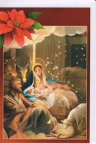 イタリア製 クリスマスカード 定型 聖家族220-1