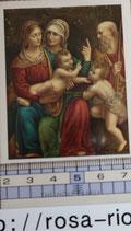 ご絵 絵画 THE  HOLY FAMILY A    10.5×6センチ