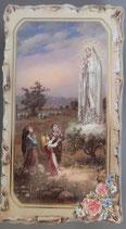 イタリア ご絵 VINCH ファティマ09 12.2×6.7センチ 大判飾り縁 箔押しエンボス加工 紙裏白
