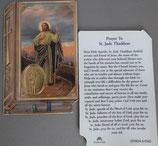イタリア プラ箔押しカード GENOA聖書型 8 聖ユダ 8.5×5.5センチ 裏面英語祈り
