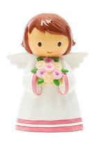 LTD   185315YX October  Guardian Angel statue 10月の守護天使 花