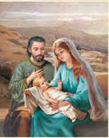イタリア FB ご絵 20×25センチ紙 8.10-890 聖家族