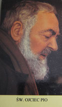 ご絵 10×5.7サイズ 聖ピオ神父 横顔 Saint Pio holy card with prayer in Poland