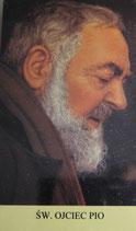 ご絵 10×5.7サイズ 聖ピオ神父 横顔 Saint Pio holy card with prayer in Poland