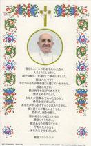 日本語 イタリア羊皮紙カード 教皇フランシスコ あなたがたの人生に