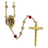 ファティマ10 トリニティのロザリオ Devotional rosaries Rosary SS. Trinity gray glass beads 6 mm - Faith Collection 10/47