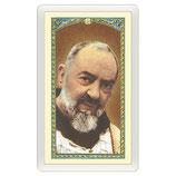 パウチカード2395 イタリア 聖ピオ Santino Padre Pio Gesù è Tuo ITA 10x5