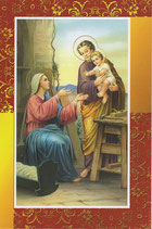 イタリア製 クリスマスカード 定型 聖家族 220-18
