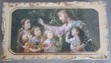 イタリア ご絵 VINCH  Gesucon Fanciulli 15 12.2×6.7センチ 大判飾り縁 箔押しエンボス加工 紙裏白