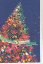 チキュウグリーティングス 280-35 クリスマスカード ツリー
