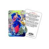 イタリア 日本語 メダイ付きカード 結び目を解く聖母