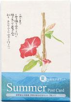 グロリアアーツ 星野富弘 ポストカード夏の絵はがき 詩画集 7枚セット