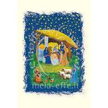 イタリア 羊皮紙 クリスマスカード 1030