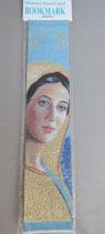 欧州 布製刺繍しおり 聖母 22.5×5センチ 布しおり 1912-9