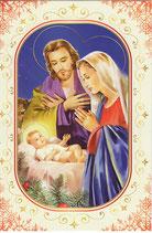 イタリア製 クリスマスカード 定型 聖家族 220-16