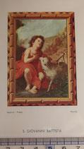 ご絵 絵画 S.GOVANNI BATTISTA B-5 11,5×6.7センチ 紙裏白