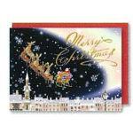 チキュウグリーディングス クリスマスカード S300-02 日本製