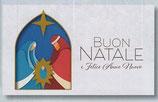 FB NATALE イタリア 新作クリスマスご絵カード&封筒セット 8×13.5センチ裏白 封筒 9×14センチ 定型 431-2
