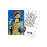イタリア Art Ita メダイカード 英語 聖クララ 聖キアラ 6314