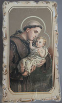 イタリア ご絵 VINCH Sant Antonio 20 12.2×6.7センチ 大判飾り縁 箔押しエンボス加工 紙裏白