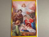 イタリア製 クリスマスカード 定型 聖家族と天使 C1613