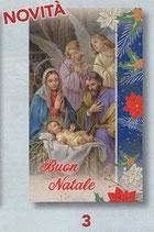 FB  NATALE   イタリア製 金箔押ご絵 裏白紙 7×12センチ 379-999-3