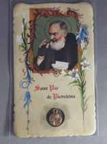 サンジョバンニロトンド 聖ピオ神父 祈りカード聖ピオメダイつき フランス語