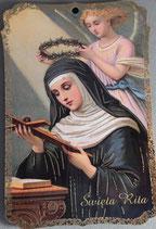 箔板絵 聖リタ 10×6.5×0.3センチ