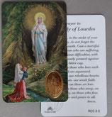 イタリア プラ箔押しカード RCC 6  8.3×5.5センチ 裏面英語祈り