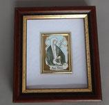 ネコポス不可 イタリア シエナの聖カタリナ ミニ額  1910-72