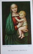ご絵 絵画 THE MADONNA GRANZZDUCA A-19 10.5×6センチ 紙裏白