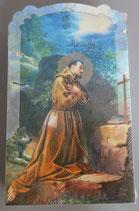 イタリア ご絵 CLARA 39 12.5×7.5センチ 大判飾り縁箔押し 紙裏白