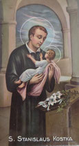 イタリア ご絵 RENI 聖ストニスコステイカ St. Stanislaus Kostka 1258 10×6センチ 紙裏白