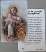 イタリア プラ箔押しカード RCC 68  8.3×5.5センチ 裏面英語祈り