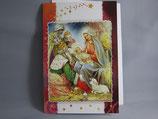 イタリア製 クリスマスカード 定型 聖家族と三賢人0578-2