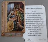イタリア プラ箔押しカード GENOA聖書型 20 聖家族 8.5×5.5センチ 裏面英語祈り