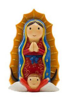 LDW 155121YX  Lady of Guadalupe statue