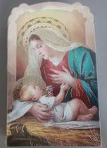 イタリア ご絵 CLARA 17 12.5×7.5センチ 大判飾り縁箔押し 紙裏白