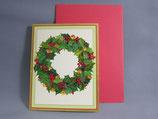 クリスマスカード 定型小型 鈴のリース