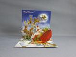 封筒つき 立体クリスマスカード 小 はやくはやく急いで TR189