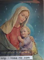 ご絵 21×15センチ 聖母子A D-1