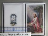 ご葬儀 典礼カード 2つ折り 14.5×11.5センチ ゲッセマネのイエス