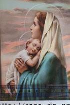 ご絵 手判 聖母子A C-47 14×9センチ 紙裏白