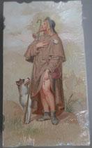 イタリア ご絵 Eucaristina 聖ロッコ St.Rocco 019 10.7×6センチ 飾り縁箔押し 紙裏白