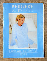 Magazine Explication tricot Bergère de France 1997-1998