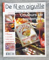 Magazine De fil en aiguille n°45 - Couleurs de septembre