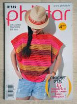 Mini magazine Phildar 589 - Crochet d'été