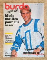 Magazine Burda Spécial Mode mailles pour lui - Printemps-été 85