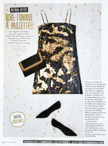 Patron de couture Modes & Travaux - Robe-tunique à paillettes