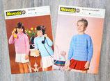 Lot de 2 fiches tricot enfant (Vintage)